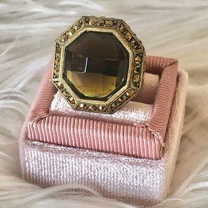 Lia Sophia smoky quartz statement ring